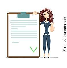 executiva, checklist.