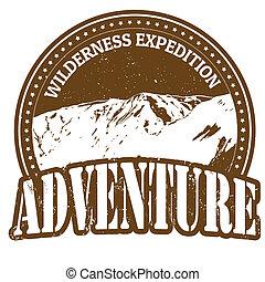 expedição, selo, aventura, selva