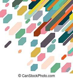 experiência., abstratos, coloridos, elemento