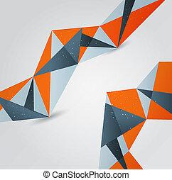 experiência., abstratos, projeto gráfico