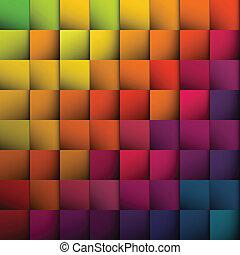 experiência., abstratos, quadrados, vetorial, eps10