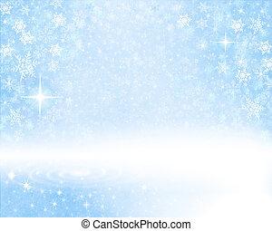 experiência azul, nevado