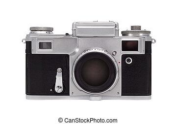 experiência., branca, câmera, isolado