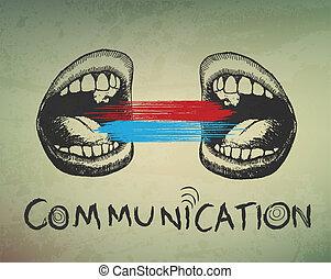 experiência., conceitual, comunicação, abstratos