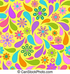 experiência., flor, coloridos, amarela