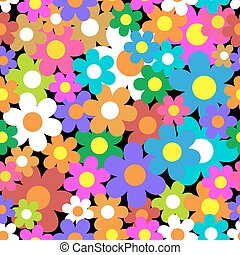 experiência., flor, pattern., seamless, coloridos