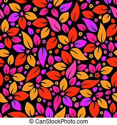 experiência., flor, seamless, coloridos