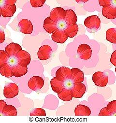experiência., flor, seamless, vermelho