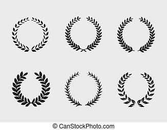 experiência., heraldic, ornamento, branca