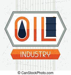 experiência., indústria, óleo