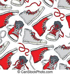 experiência., sneakers., seamless