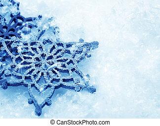 experiência., snowflakes, neve, inverno