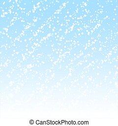 experiência., sutil, natal, neve, espantoso, queda