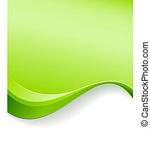experiência verde, modelo, onda