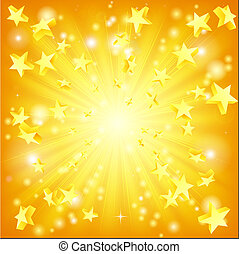 explodindo, estrelas, fundo