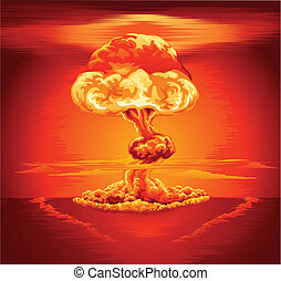 explosão nuclear, nuvem cogumelo