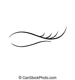 extensão, cílio, fundo, logotipo, branca, ícone