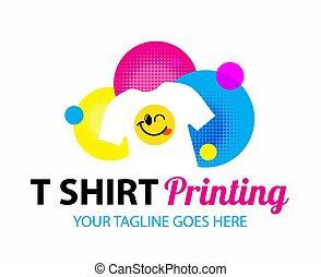 fábrica, serigraphy, logotipo, experiência., incorporado, modelo, t-shirt, vetorial, tipografia, identidade, impressão, marcar, silkscreen, branca, engraçado, oficina, isolado, printing.