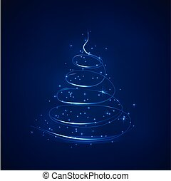 faíscas, abstratos, vetorial, árvore, natal