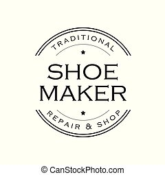 fabricante, sapato, logotipo, sinal, vindima