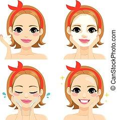 facial, tratamento beleza
