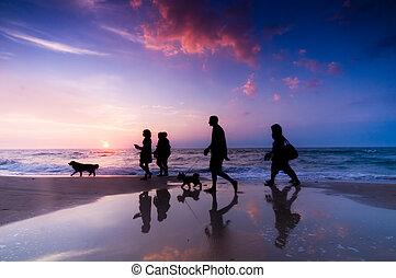 família, passeio