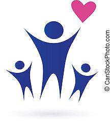 família, saúde, comunidade, ícones