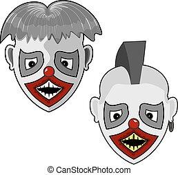 fantasmagórico, dois, rosto