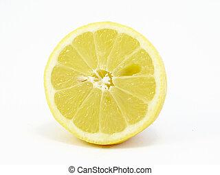 fatia, limão