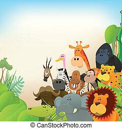fauna, animais, fundo