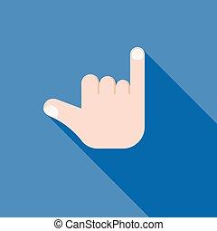 fazer, ícone, sinal mão