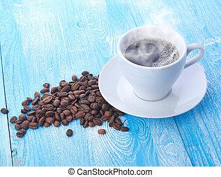 feijões café, copo