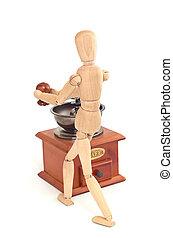 feijões, coffee-grinder