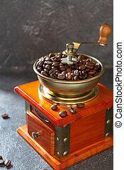 feijões, vindima, moedor café, antigas