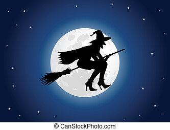 feiticeira, lua