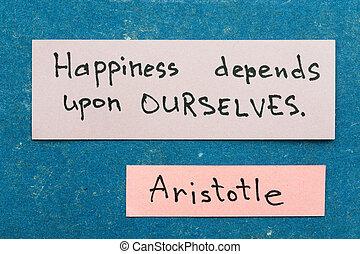 felicidade, depends