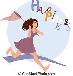 felicidade, perseguir