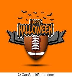 feliz, esfera football, hallowen