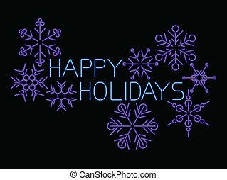 feliz, feriados, néon