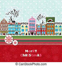 feliz natal, cartão, convite
