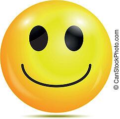 feliz, smiley, emoticon