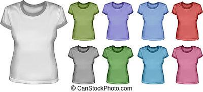 femininas, jogo, camisas
