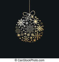 feriado, cartão natal, elements.