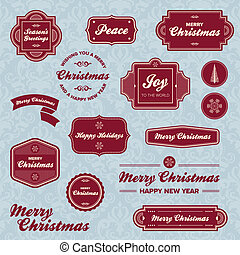 feriado, etiquetas, natal