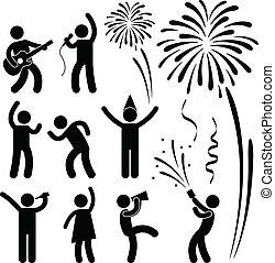 festival, partido, evento, celebração