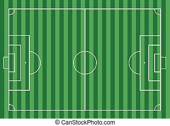 field., futebol, capim, futebol americano verde