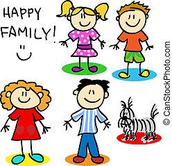 figura, vara, família