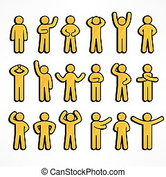 figuras, cobrança, amarela, vara