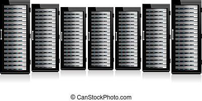 fila, rede, servidores