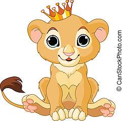 filhote, leão, rei